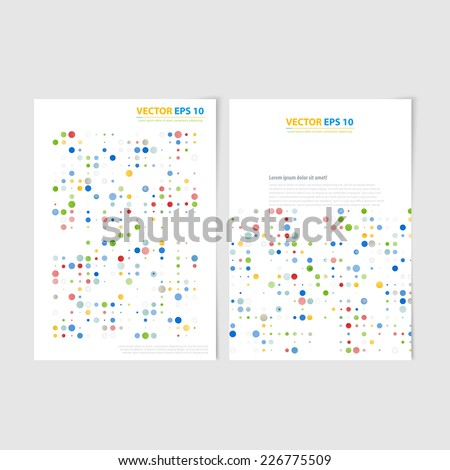 Flyer template back and front design. Brochure design templates collection with color circless - stock vector