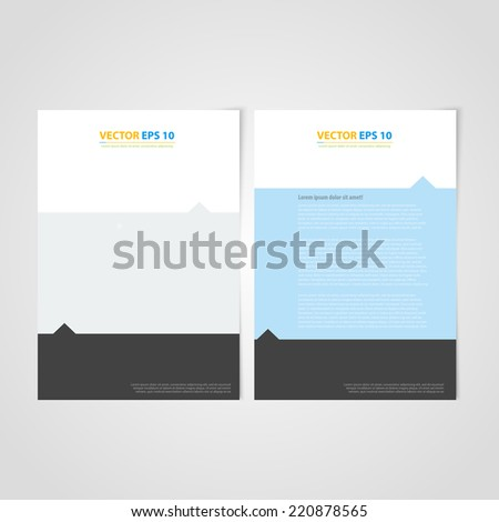 Flyer template back and front design. Brochure design templates collection with flat backgrounds - stock vector