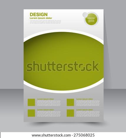 Flyer template. Business brochure. Editable A4 poster for design, education, presentation, website, magazine cover. Green color - stock vector