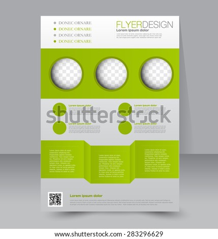 Flyer Template Brochure Design Editable A Stock Vector