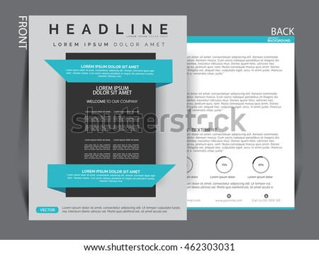 Flyer template. Business brochure. Editable A4 poster for design, presentation, website, magazine cover.