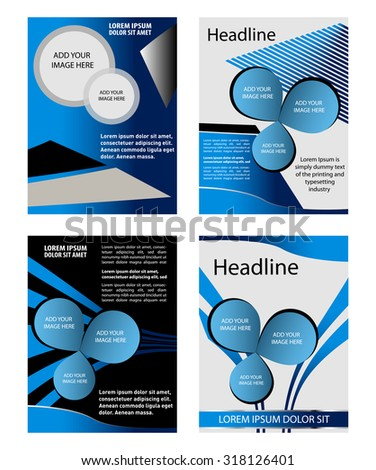 Global Business Front Back Flyer Template Stock Vector