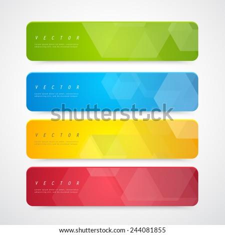 Flyer template header design. Banner design templates collection  - stock vector