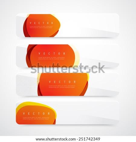 Flyer template header design circles. Banner design templates collection  - stock vector