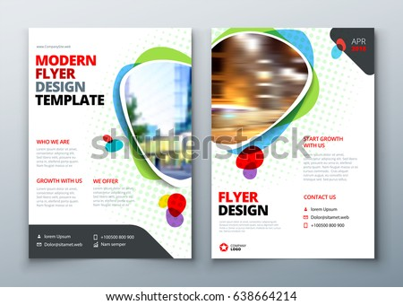 Flyer template layout design business flyer stock vector royalty flyer template layout design business flyer brochure magazine or flier mockup in bright wajeb Image collections