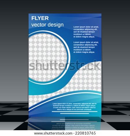 Flyer vector template. Abstract cover design. - stock vector