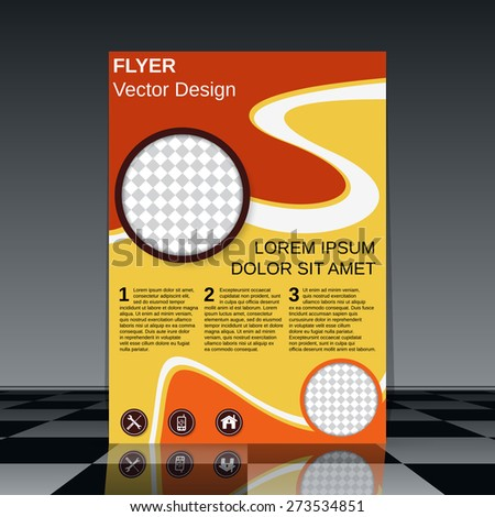 Flyer vector template. Booklet, poster, banner, brochure cover abstract design. - stock vector