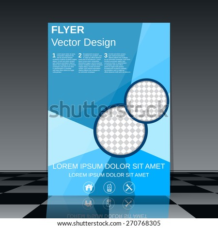 Flyer vector template. Booklet, poster, brochure cover abstract design. - stock vector
