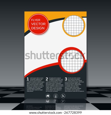 Flyer vector template. Business presentation, brochure or magazine cover, booklet, poster abstract design. - stock vector