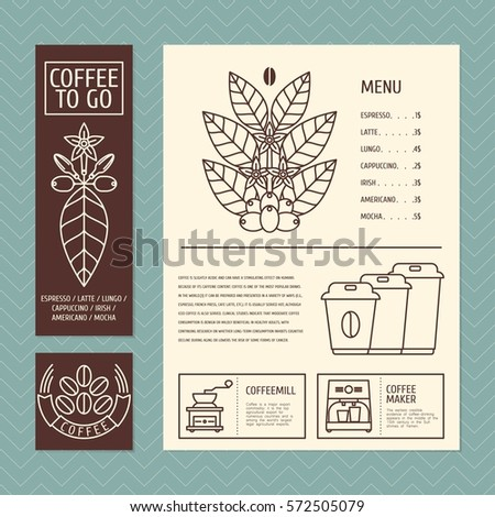 Vector Mandala Coffee Beans Lace Ornament Stock Vector