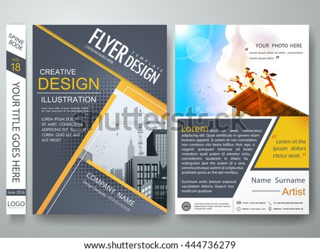 Poster template design