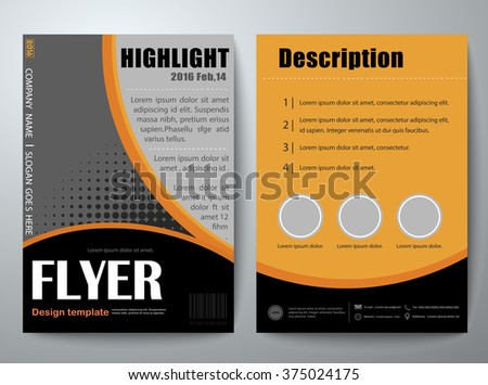 Yuttapholstocker 39 s brochure cover book flyers set on for Paper ad design templates