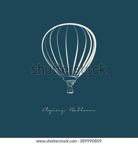 Flying Balloon illustration vector - stock vector