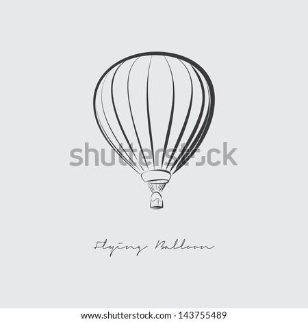 Flying Balloon vector - stock vector