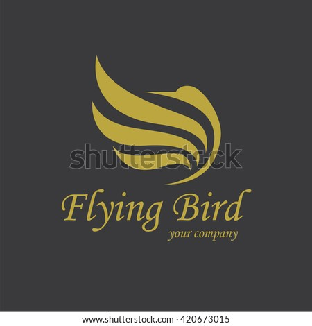 flying bird logo - stock vector