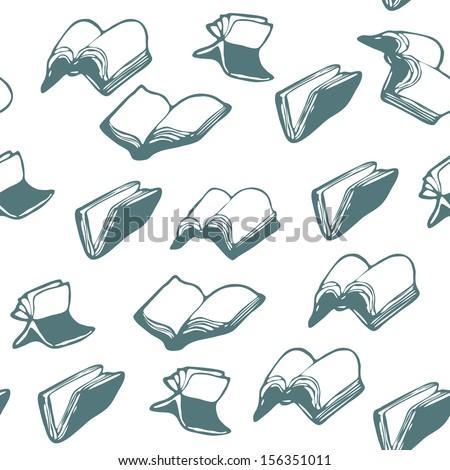 flying Books, patterns - stock vector