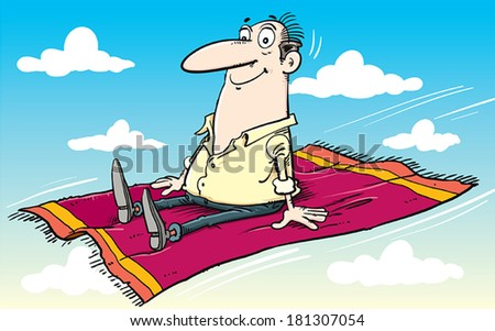 Flying carpet stock vector 181307054 shutterstock for Flying carpet logo