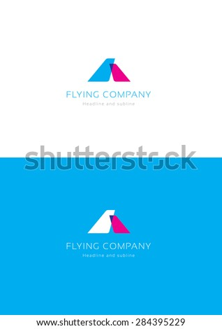 Flying company logo teamplate. - stock vector
