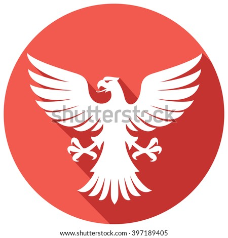 flying eagle flat icon - stock vector