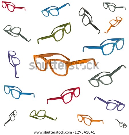 flying glasses - stock vector