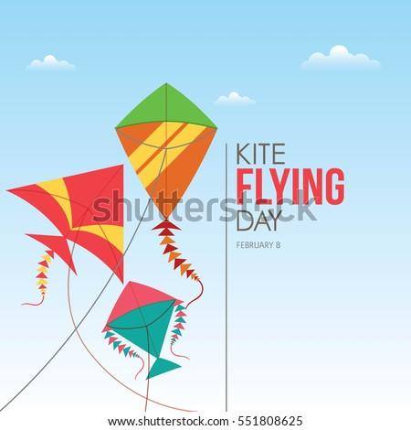flying kite illustration - photo #10