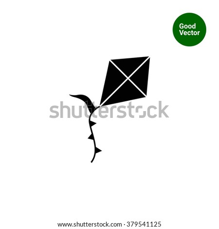 Flying kite icon
