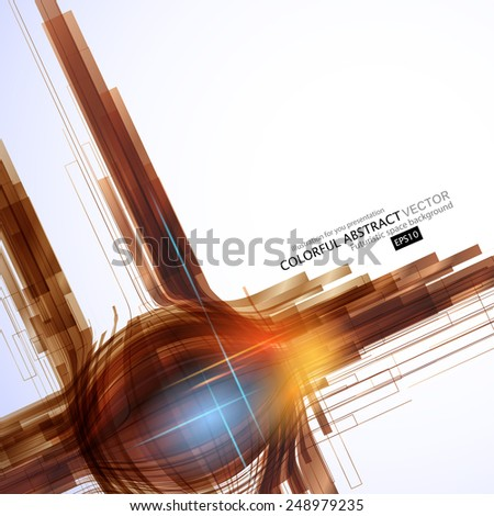 Flying line. Abstract Background for Business Brochure or Cover. EPS10. - stock vector