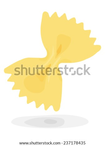 flying pasta - stock vector
