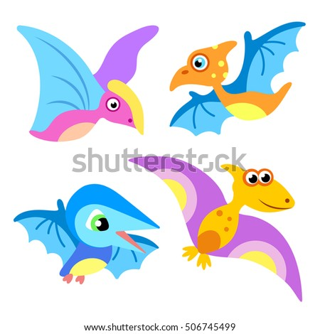 Flying Reptiles. Flying Dinosaurs.