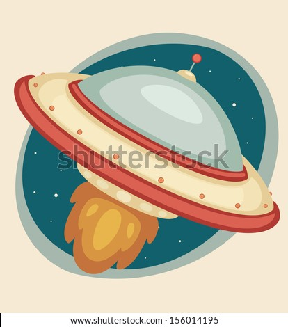 Flying Saucer - stock vector