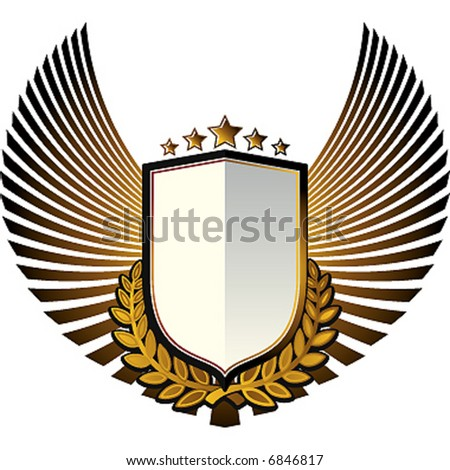 flying shield - stock vector