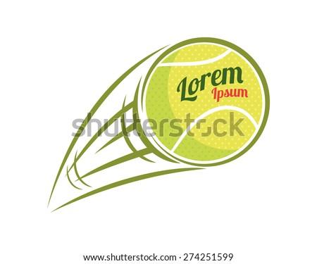 flying tennis ball - stock vector