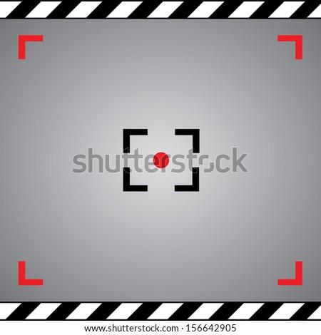 focus camera symbol in framework  - stock vector