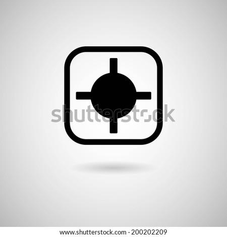 focus icon - stock vector