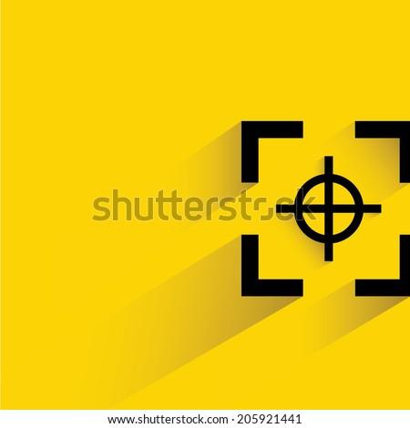 focus, target - stock vector