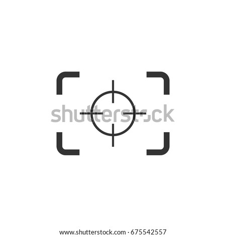 Camera focus target
