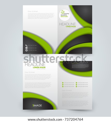 Fold Brochure Template Flyer Background Design Stock Vector