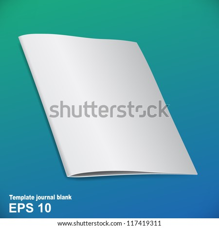 Folded brochure template for your presentation - stock vector