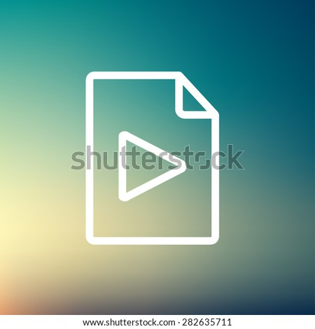 Folded edge with arrow icon thin line for web and mobile, modern minimalistic flat design. Vector white icon on gradient mesh background. - stock vector