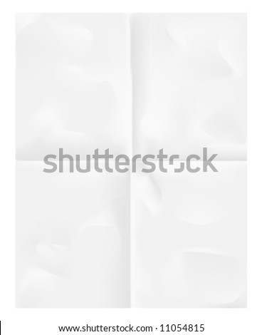 Folded paper background. - stock vector
