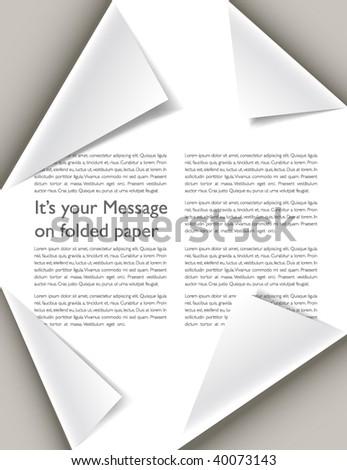 Folded paper brochure - stock vector