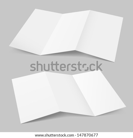 Folded Paper. Illustration on white background for design.