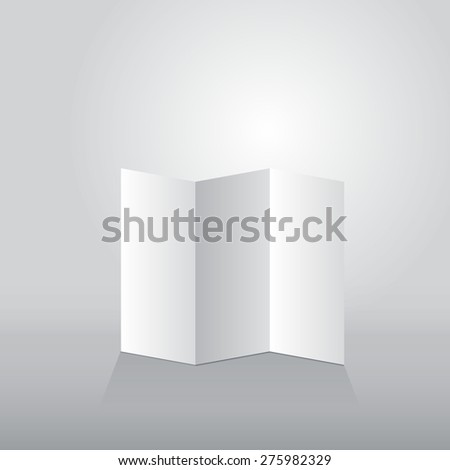 Folded sheet of paper three turn - stock vector