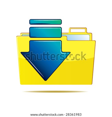 Folder and arrow icon - stock vector