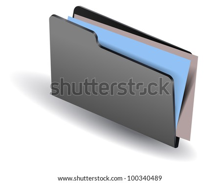 Folder and documents - stock vector