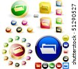 Folder buttons. Vector great collection. - stock