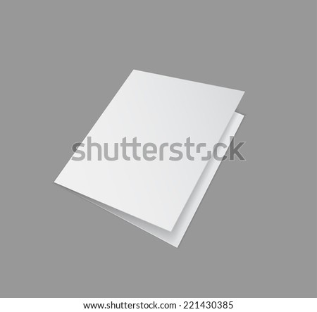 folder closed paper design 3d - stock vector
