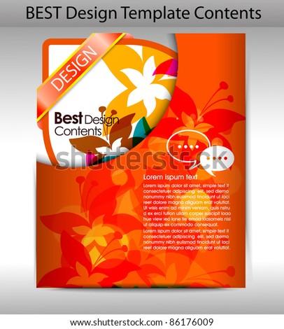 Folder design content background. editable vector illustration - stock vector