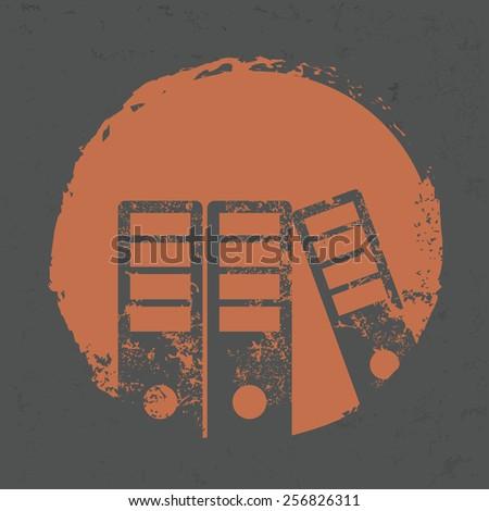 Folder design on grunge background,grunge vector - stock vector
