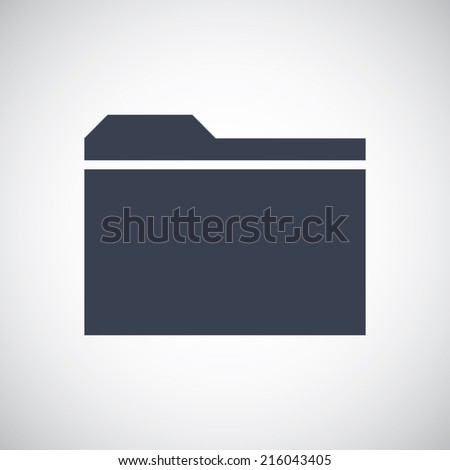 Folder Explorer icon. Simple flat metro style. Vector pictogram save for esp10 - stock vector